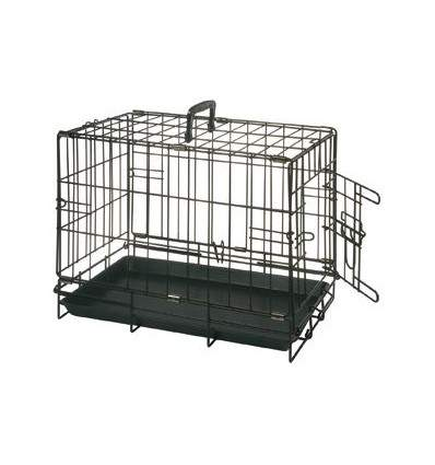 cage transport noir 1 porte