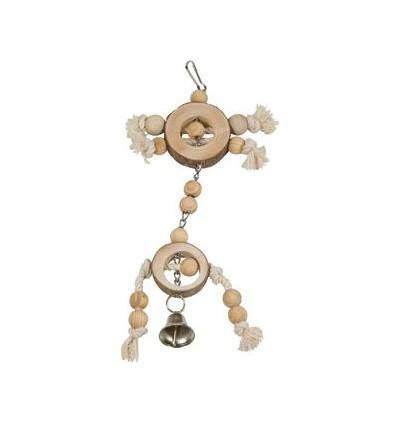jouet perroquet corde en bois