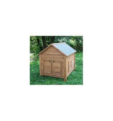 Abri en bois pour poules et lapins 105 x 100 x 108