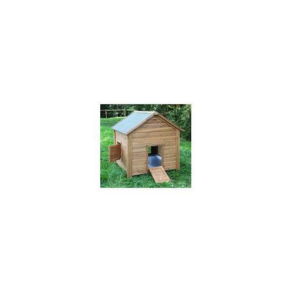 abri pour poules et lapins en bois. Black Bedroom Furniture Sets. Home Design Ideas