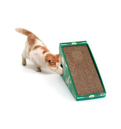 Griffoir en carton pour chat  avec souris et désodorisant
