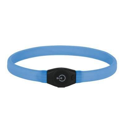 Collier lumineux bleu  pour chien LED Maxi Safe