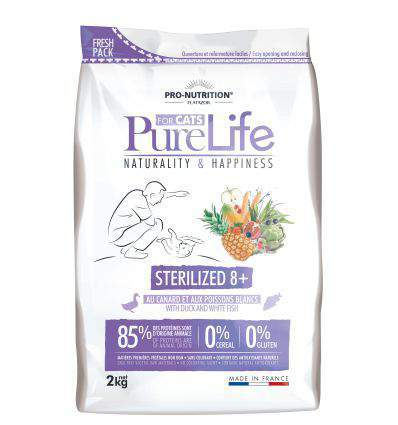 Pro Nutrition - Flatazor Pure Life for cats Sterilized 8+