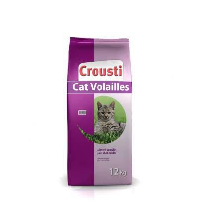 Crousti Cat Volailles - Croquette pour chat - aliment pour chat - produit pour