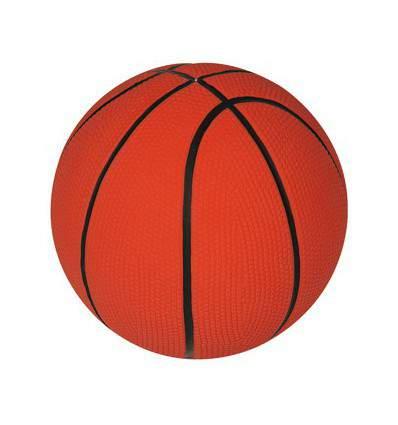 Balle de basket latex - jouet pour chien