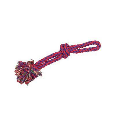 Corde coton 2 nœoeuds - jouet pour chien