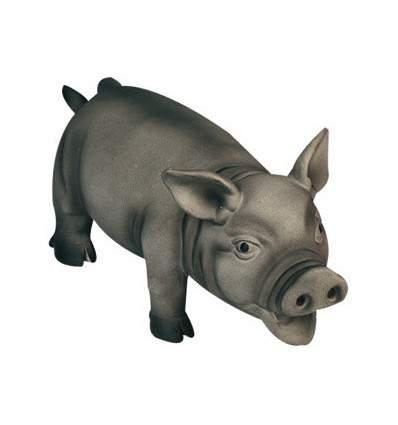 Cochon latex sur pied - jouet pour chien