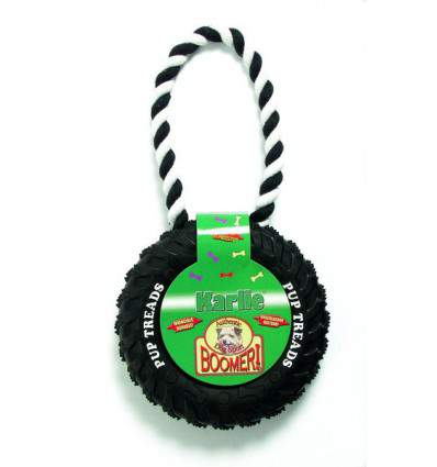 Roue en caoutchouc avec poignée - jouet pour chien