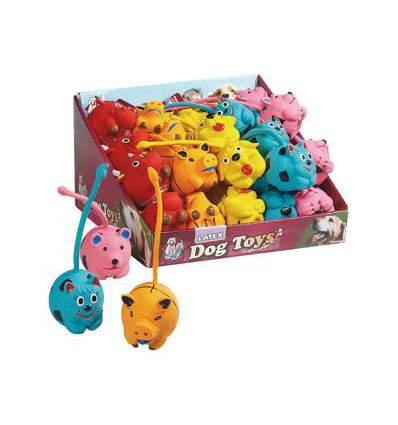 Jouet animaux queue longue latex - jouet pour chien